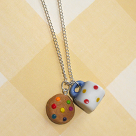 Tea & Biscuits charm necklace