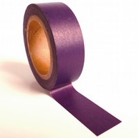 Pantone 5115 Washi Tape 15mm x 10m Roll Deep Purple Aubergine Eggplant WT0047