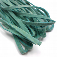 Leather-like cord 3mm x 5m AQUA TEAL vegetarian leather like faux suede CC0001