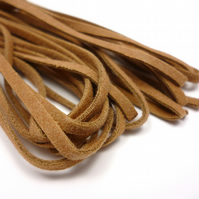 Leather-like cord 3mm x 5m BROWN vegetarian leather like faux suede CC0002