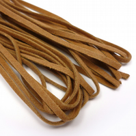 3mm Flat Faux Suede Cord - Brown Tan - 5m CC0002
