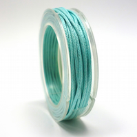 Leather-like cord 1mm x 5m AQUA vegetarian leather like waxed cord CC0007