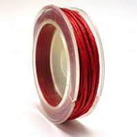 Leather-like cord 1mm x 5m RED vegetarian leather like waxed cord CC0008
