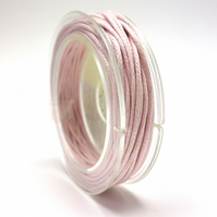 Leather-like cord 1mm x 5m ROSE PINK vegetarian leather like waxed cord CC0005