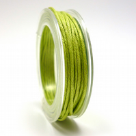 Leather-like cord 1mm x 5m LIGHT GREEN vegetarian leather like waxed cord CC0012