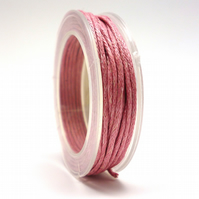 Leather-like cord 1mm x 5m PINK vegetarian leather like waxed cord CC0013