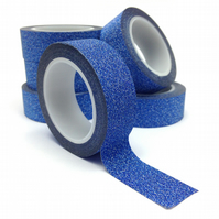Blue Glitter Washi Tape 15mm x 5m Roll WT0059