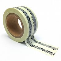 Music Washi Tape 15mm x 10m Roll Musical Notes WT0069