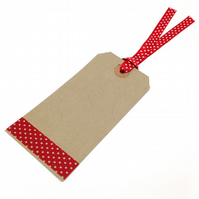 Gift Tags x 20 decorate for birthday and christmas gift wrap 120mm x 60mm