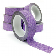 Purple Glitter Washi Tape 15mm x 5m Roll WT0061