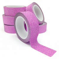 Pink Glitter Washi Tape 15mm x 5m Roll WT0062