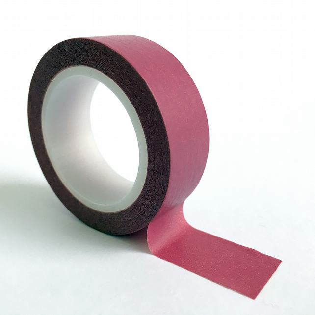 Pantone 7433 Washi Tape 15mm x 10m Roll Pink Burgundy  WT0056