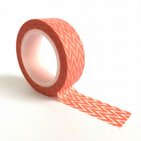Orange Chevron Washi Tape 15mm x 10m Roll WT0017