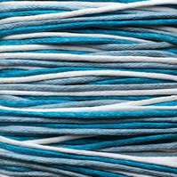 Waxed Cotton Cord (1mm) Mix - 3 x 5m Reels Sea Blue White Blue CC0016