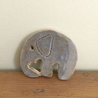 Ceramic Elephant Brooch