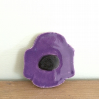Ceramic Anemone Brooch