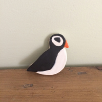 Ceramic Puffin Brooch