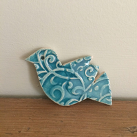 Ceramic Bird Brooch