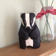 Ceramic Badger Ornament