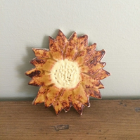 Ceramic Sunflower Brooch