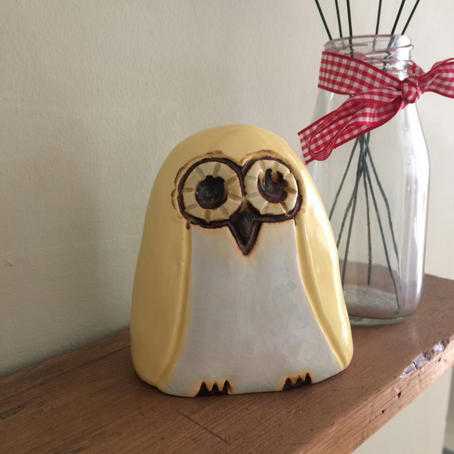 Ceramic Lemon Owl