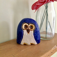 Ceramic Blue Owl