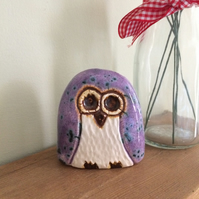 Ceramic Purple Owl