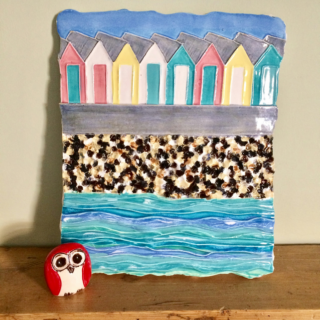 Ceramic 'On The Prom' Wall Plaque