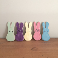 Ceramic Set of Bunny Magnets