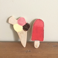 Ceramic Ice cream & Ice Lolly Magnets