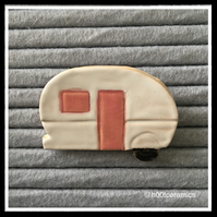 Ceramic Caravan Brooch