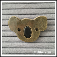 Ceramic Koala Brooch