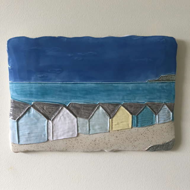 Ceramic 'All In A Row' Wall Plaque