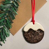 Ceramic Gift Tags & Tree Decorations - Christmas Pudding, Xmas Pudding
