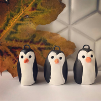 Ceramic Penguin Christmas Tree Hanging Decoration