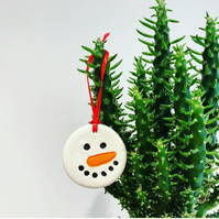 Ceramic Gift Tags & Tree Decorations - Snowman