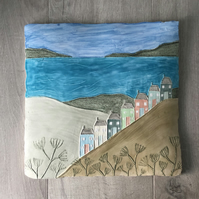 Ceramic 'View from the hill'' Wall Plaque