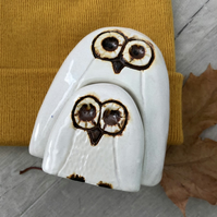 Ceramic Owl and Owlet