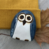"""Mason"" - Ceramic Blue Owl Decoration"