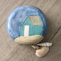 Ceramic 'Beach Huts' Vase