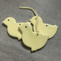 Ceramic Gift Tags & Easter Tree Decorations - Chicks