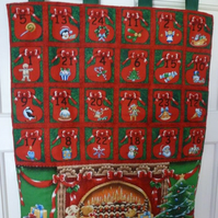 Hand quilted Toys by the Fireplace Advent Calendar