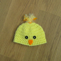 Cute CHICK BIRD Baby Beanie Crochet HAT , Photo Prop  0-3 months more sizes too