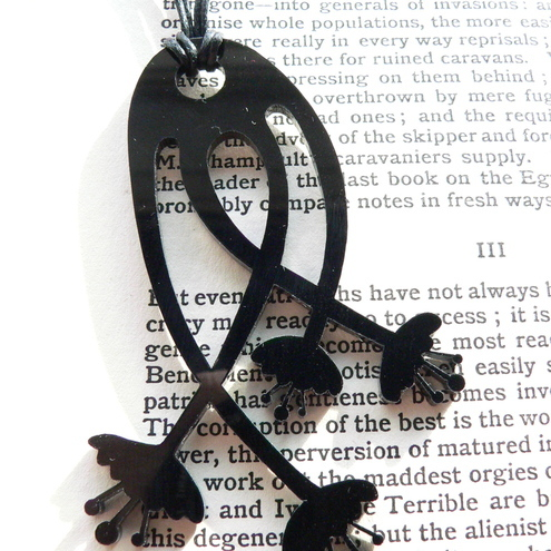 Flower Pendant - Black