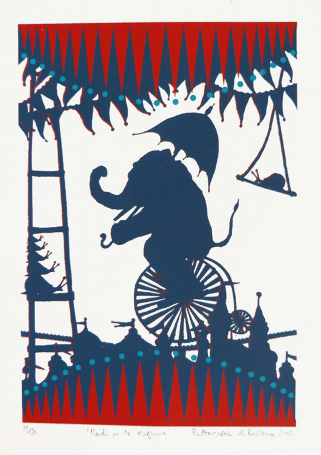 'Heidi on the Highwire' Original Screenprint