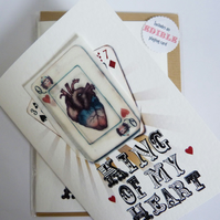Edible 'King of My Heart' Card - perfect for a wedding