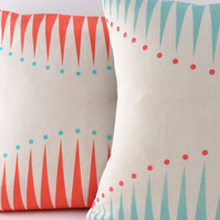 Coral Circus Triangles Cushion Cover - cover only - free postage