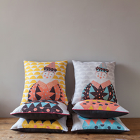 Jack the Circus Clown Cushion Cover - free postage
