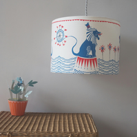 Ferris the Circus Lion Lampshade - for a pendant, standard or table lamp
