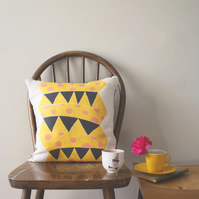 Jack in the Box Cushion Cover in Sunshine Yellow - free delivery